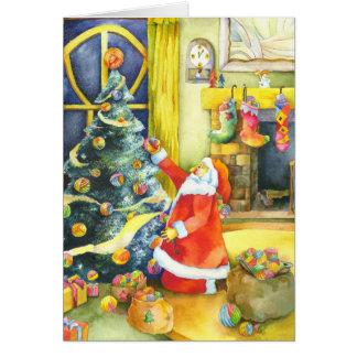 Cartões de natal especiais do Natal do papai noel