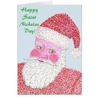 Cartões de natal felizes do dia de Nicholas do