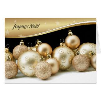 Cartões de Natal franceses de Joyeux Noël