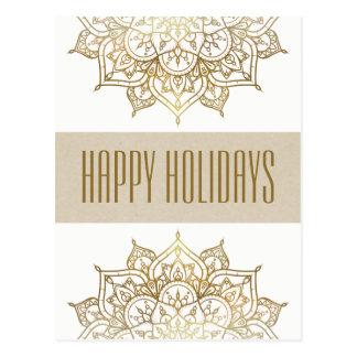 Cartões de natal Glam chiques elegantes da mandala