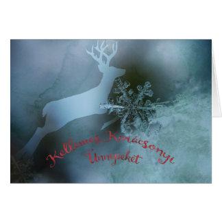 Cartões de natal húngaros com motivo do inverno