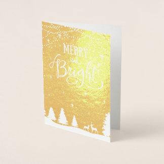 cartões de natal incorporados da cena do inverno