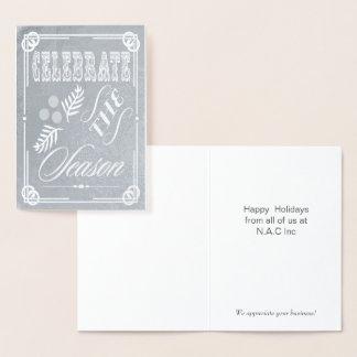 Cartões de natal incorporados da tipografia Luxe