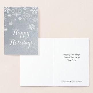 Cartões de natal incorporados dos flocos de neve
