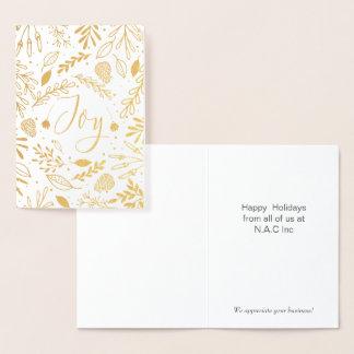Cartões de natal incorporados dos ramos felizes