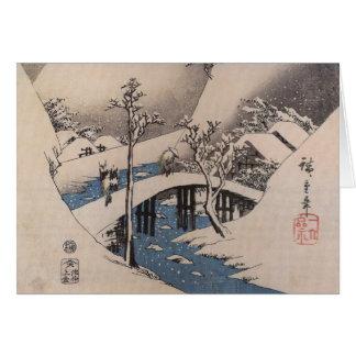 Cartões de Natal japoneses da forma velha