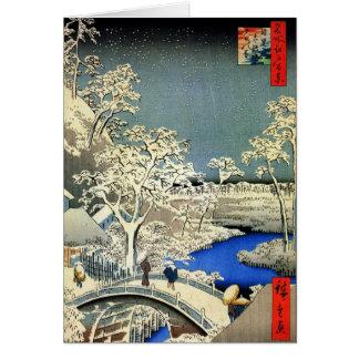 Cartões de Natal japoneses do vintage