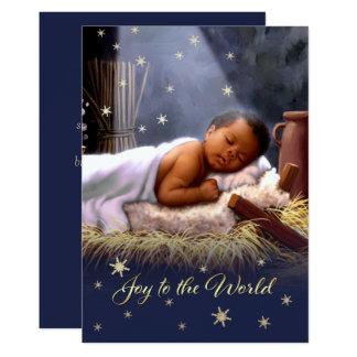Cartões de Natal lisos de Jesus do bebê do Convite 12.7 X 17.78cm