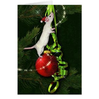 Cartões de natal mágicos do rato
