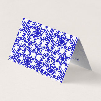 Cartões de natal modernos da Web do floco de neve