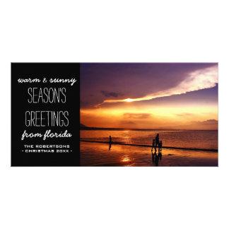 Cartões de natal mornos e ensolarados cartão com foto