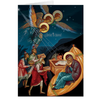 Cartões de Natal ortodoxos
