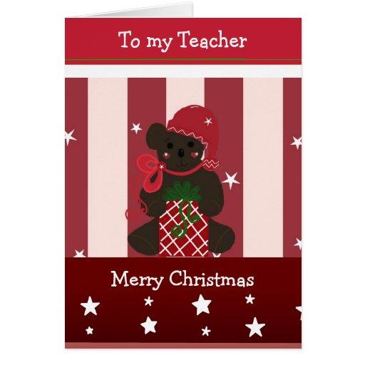 Cartões de natal para meu professor