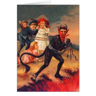 Cartões de Natal Redheaded de Krampus