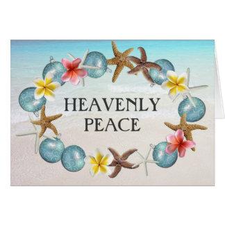 Cartões de Natal religiosos da grinalda tropical