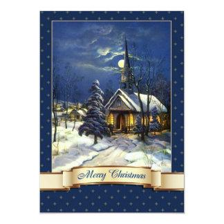 Cartões de Natal religiosos do design da igreja do Convite 12.7 X 17.78cm