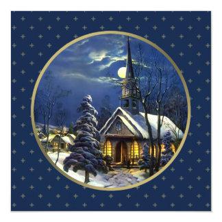 Cartões de Natal religiosos do design da igreja do Convite Quadrado 13.35 X 13.35cm