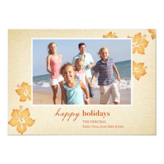 Cartões de natal tropicais convites personalizados