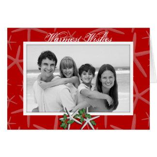 Cartões de Natal tropicais da foto dos desejos os