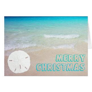 Cartões de Natal tropicais da praia do dólar de