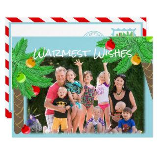 Cartões de natal tropicais das palmeiras alegres