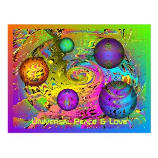 Cartões de natal universais da paz & do amor cartão postal