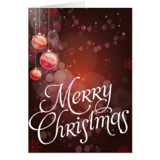 Cartões de Natal vermelhos do Bauble