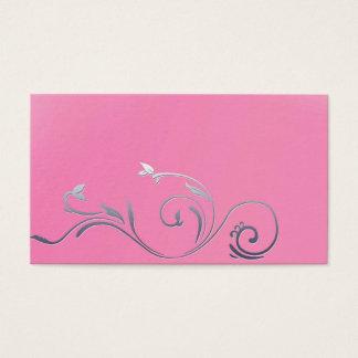 cartões de negócio de retalho da forma do rosa do