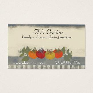 Cartões de negócios coloridos da restauração do