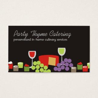 Cartões de negócios da restauração dos aperitivos