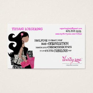 Cartões de negócios das senhoras de SACO da equipe