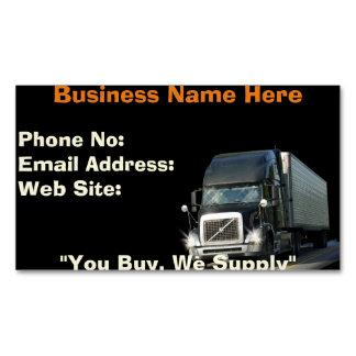 Cartões de negócios de transporte por caminhão do
