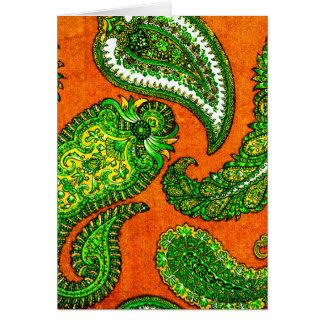 Cartões de nota alaranjados & verdes elétricos de
