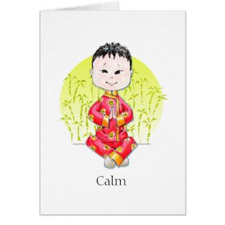 Cartões de nota calmos do menino de China