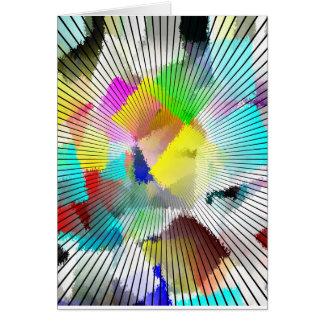 Cartões de nota coloridos de Abstact