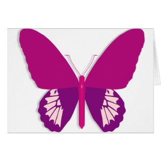 Cartões de nota cor-de-rosa da borboleta