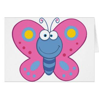 Cartões de nota cor-de-rosa de sorriso da