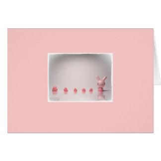 cartões de nota cor-de-rosa dos doces do coelho &