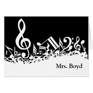 Cartões de nota customizáveis musicais