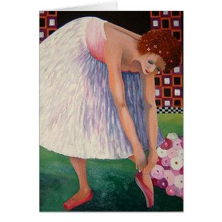 Cartões de nota da bailarina da dança