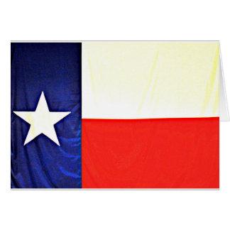 Cartões de nota da bandeira de Texas