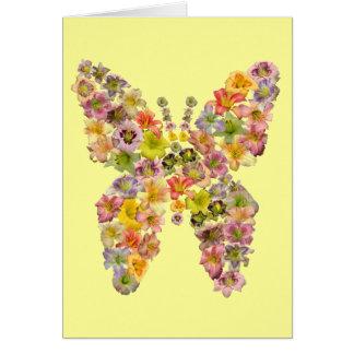 Cartões de nota da borboleta do hemerocallis