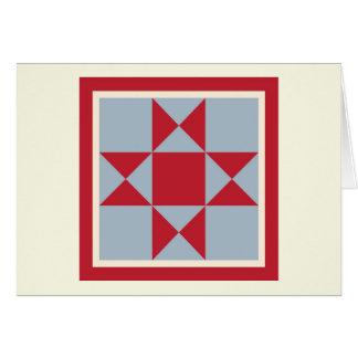 Cartões de nota da edredão - estrela de Ohio