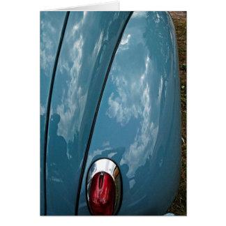 Cartões de nota da luz da cauda do carro