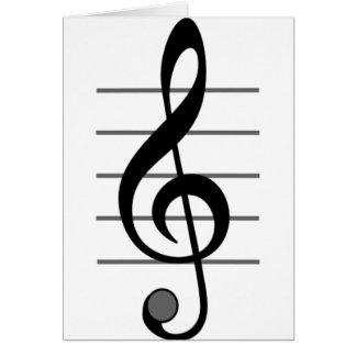 Cartões de nota da nota musical de Clef de triplo