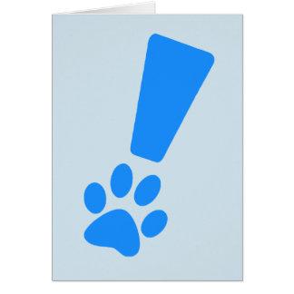 Cartões de nota da pata do cão