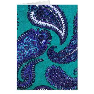 Cartões de nota de Paisley do azul e do Aqua