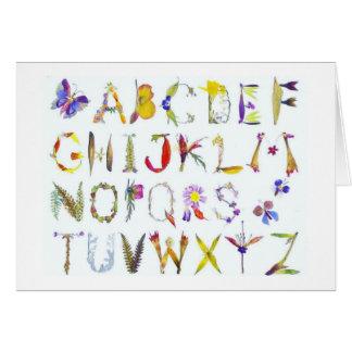 Cartões de nota do alfabeto