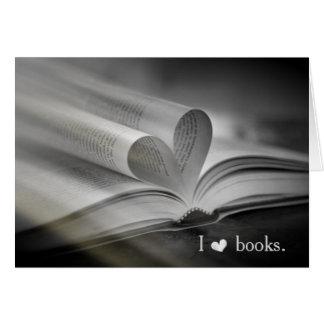 Cartões de nota do amor do livro