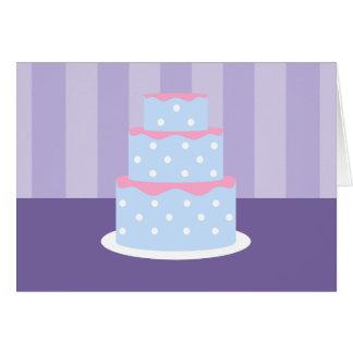 Cartões de nota do bolo das bolinhas
